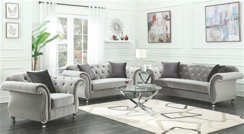 livingroom set frostine silver living room set 1stopbedrooms