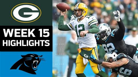 packers  panthers nfl week  game highlights youtube
