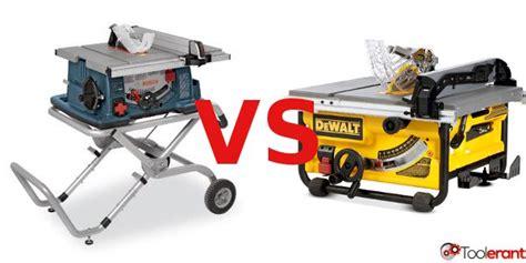 bosch vs dewalt table saw the best portable table saw dewalt dw745 or bosch 4100 09