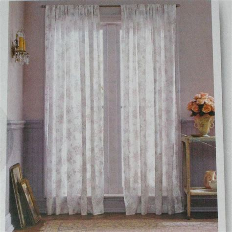 shabby chic curtain panels simply shabby chic white voile lavender floral orchid window panels curtains 54 x 84