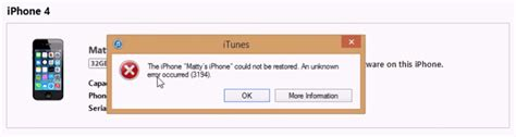 the iphone could not be restored 3194 fix itunes error 3194 while update or restore iphone