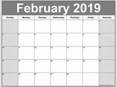 February 2019 calendar 51+ calendar templates of 2019