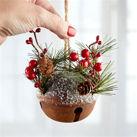 rustic woodland jingle bell ornament christmas ornaments