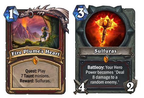Warrior Hearthstone Deck Quest by Journey To Un Goro Quests Druid Mage And Warrior