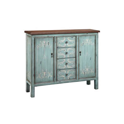 blue accent cabinet light blue accent cabinet with wood tone top and painted