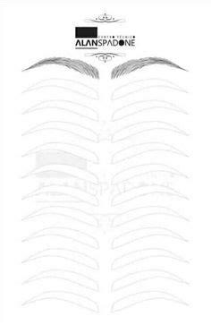 Brow Design Pre-Drawn Templates in 2019 | Work ideas | Brows, Eyebrow template, Eyebrows