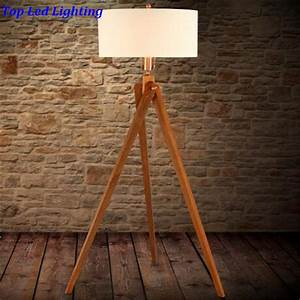 country fabric wood 3 legs floor lamp for living room With floor lamp wooden legs