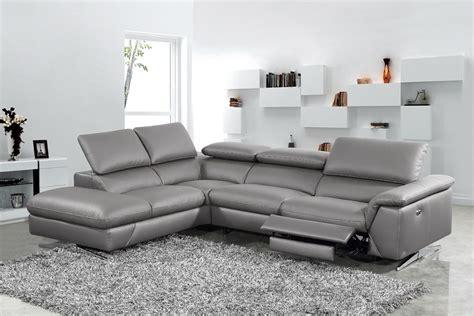 divani casa maine modern dark grey eco leather sectional