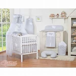 Parure De Lit Enfant : parure de lit deux c urs gris linge de lit b b ~ Teatrodelosmanantiales.com Idées de Décoration