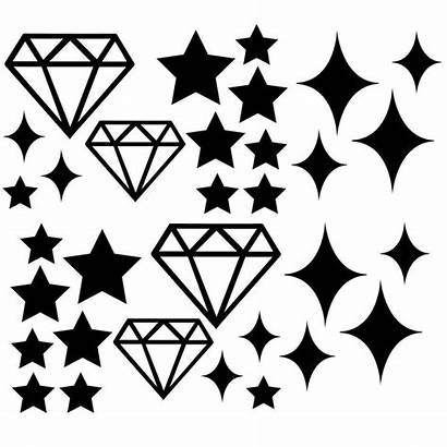 Svg Silhouette Cut Shapes Stars Diamond Star