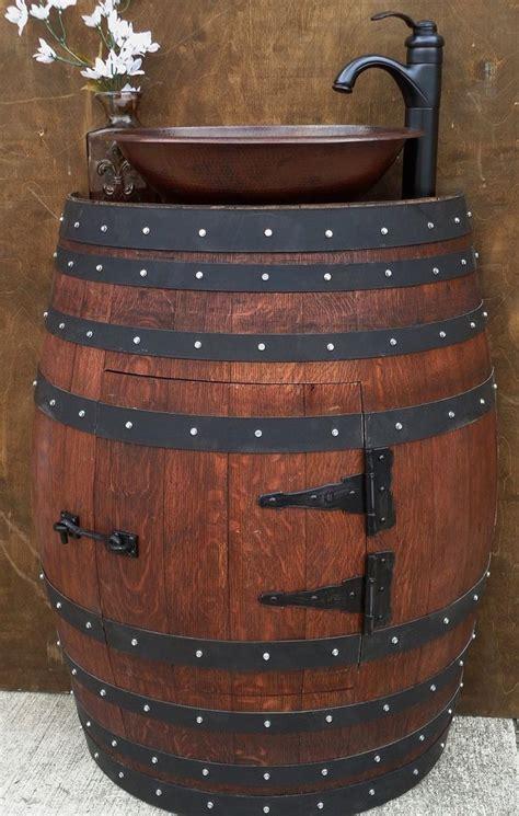 31731 oak barrel furniture the 25 best whiskey barrel sink ideas on wine