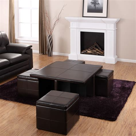 table with ottomans underneath coffee table with ottomans underneath best home design 2018