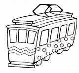 Tram Coloring Electrico Coloringcrew Colorir Fado Trains sketch template