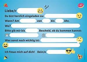 Kindergeburtstag 12 Jährige Jungs : 12 lustige smiley einladungskarten zum kindergeburtstag emoji geburtstagseinladungen ~ Frokenaadalensverden.com Haus und Dekorationen