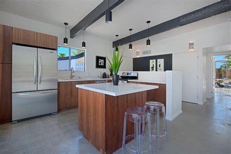 palm springs mid century renovation modern kitchen