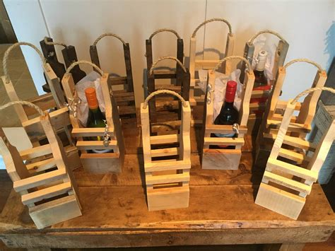 rustic pallet wood reusable wine gift bags  pallets