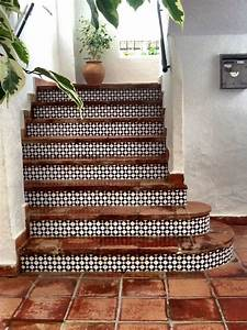 25 best ideas about tiled staircase on pinterest tile With kitchen colors with white cabinets with terracotta sun face wall art