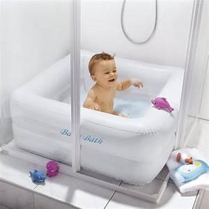 Baignoire Pour Douche Bébé : baignoire gonflable carree baby pool baby baignoire b b bebe s baignoire b b pour douche ~ Melissatoandfro.com Idées de Décoration