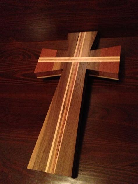 wood cross   walnut mahogany  wood working