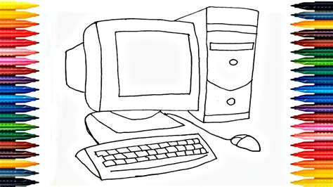 desktop coloring pages   draw computer drawing
