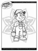 Coloring Pages Farmer sketch template