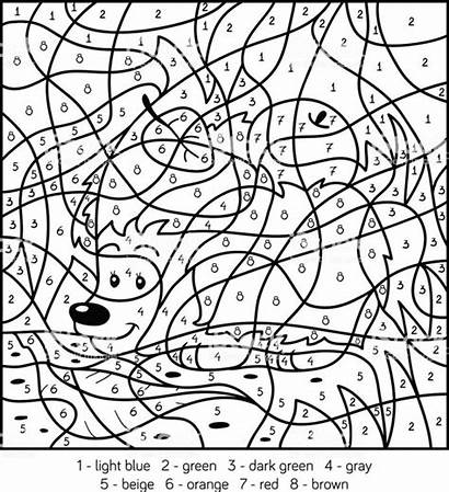 Number Coloring Worksheets Math Numbers Printable Adults