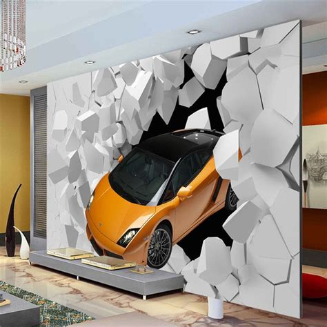 Car Wallpaper For Home by 3d Sports Car Photo Wallpaper Wall Mural Unique