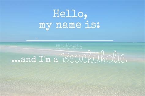 """""""Beachaholic"""" photo featured in the 2015 """"Coastal Quotes"""