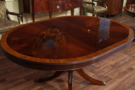Ethan Allen Dining Room Sets Ebay by 48 Quot Round To 66 Quot Oval Mahogany Dining Table Reproduction