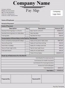 payslip templates word excel sample templates