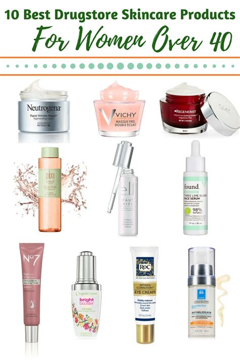 10 BEST DRUGSTORE SKINCARE PRODUCTS FOR WOMEN 40 PLUS in