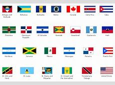 Design elements North and Central America country flags