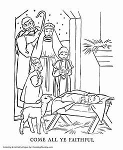 Religious Christmas Bible Coloring Pages Baby Jesus In A