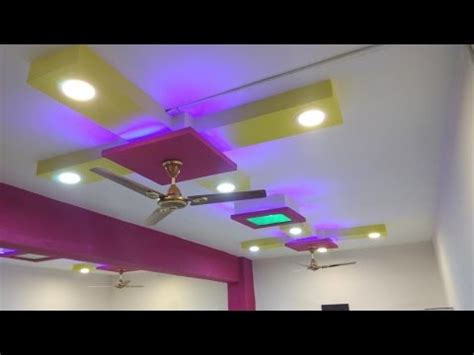 simple beautiful false ceiling design  lights youtube
