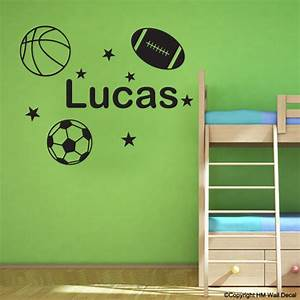 personalised name with soccer ball basketball football With best 20 soccer decals for walls