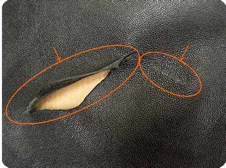 trou canapé cuir comment reparer canape cuir dechire