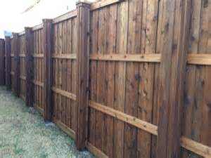 Wood Privacy Fence with Metal Posts