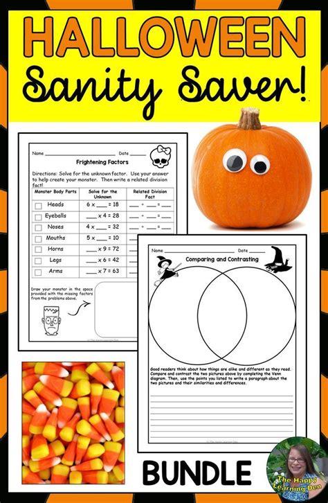 halloween reading writing  math activities