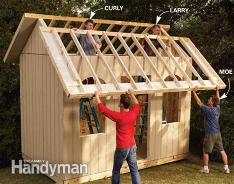 easy to build shed how to build a cheap storage shed the family handyman