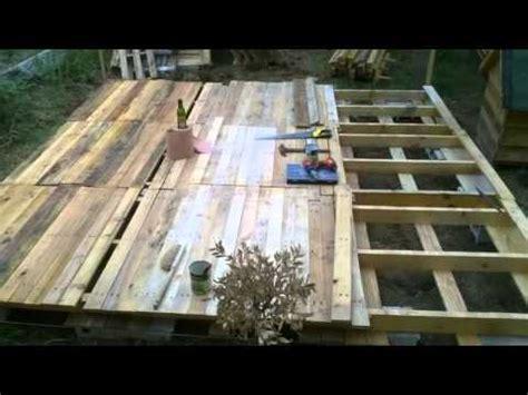 terrasse en palette youtube