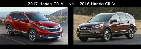 Compare The 2017 Honda Cr-v Vs The 2016 Honda Cr-v