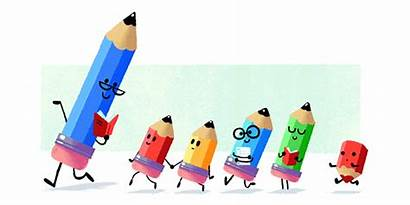 Teacher Animated Students Happy Teachers Google Pencils