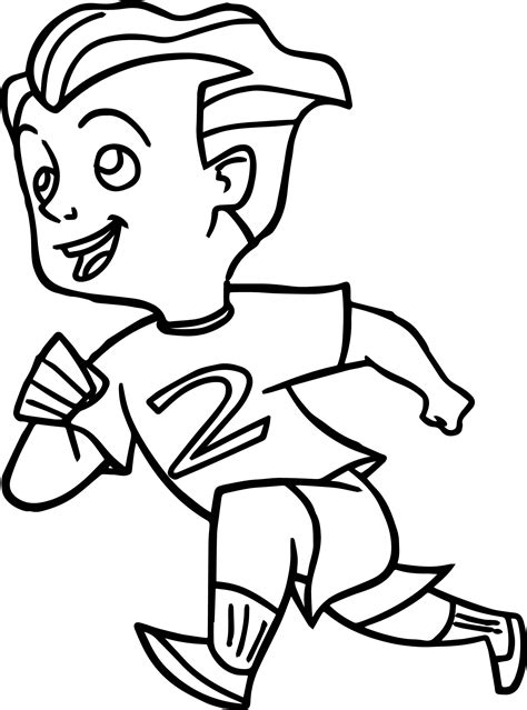 Boy Running Page Coloring Pages