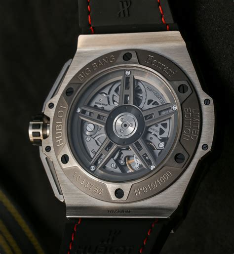 Shop for mp 05 laferrari 50 days power reserve men's watch 905.vx.0001.rx by hublot at jomashop, see price in cart. Hublot Big Bang Ferrari New Ceramic, Titanium, And Gold Watch Models For 2014 Hands-On ...