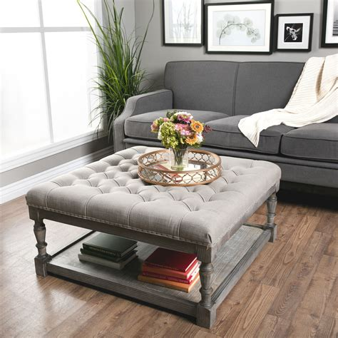 restoration hardware ottoman tray this beautiful creston square ottoman features comfortable