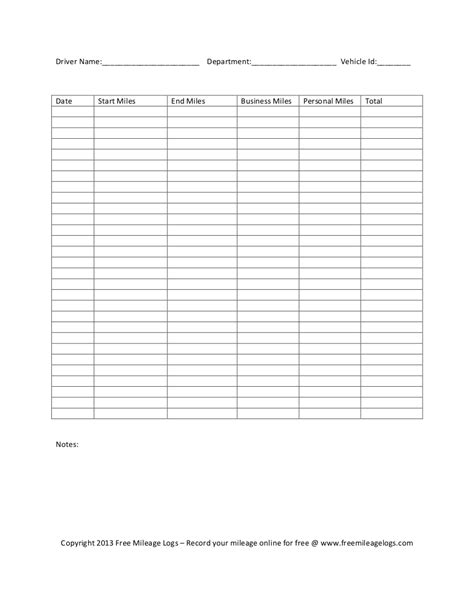 6 mileage form templates word excel templates