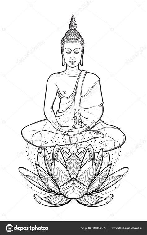 Buddha sitting on lotus tattoo | Buddha sitting on a Lotus