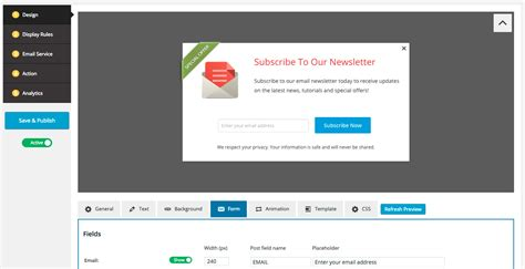 Wordpress Popup Plugin For Email Signup Form
