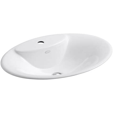 kohler maratea drop in cast iron bathroom sink in white k