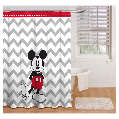 mickey mouse curtains disney chevron mickey mouse shower curtain black white